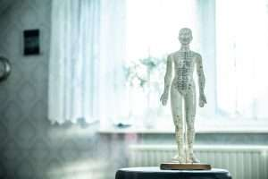 back pain acupuncture doll